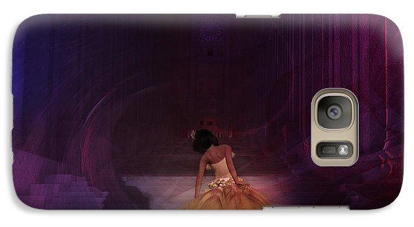 Galaxy Case featuring the digital art Spiritual Vortex by Kylie Sabra