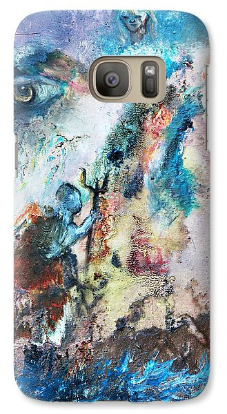Galaxy Case featuring the painting Spiritual Warfare by Ayasha Loya