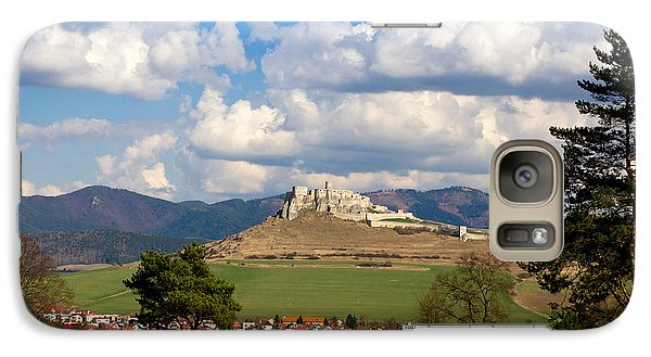 Galaxy Case featuring the photograph Spissky Hrad - Castle by Les Palenik