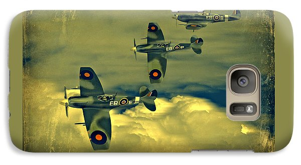 Galaxy Case featuring the photograph Spitfire Flight by Steven Agius