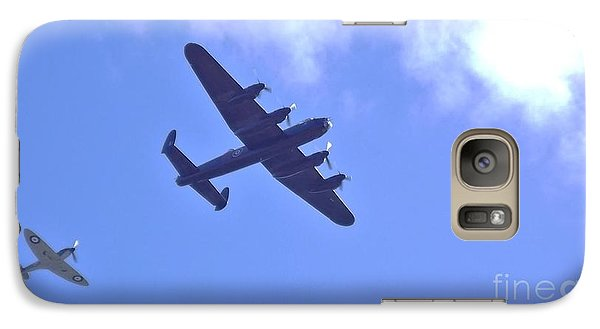 Galaxy Case featuring the photograph Spitfire  Lancaster Bomber by John Williams