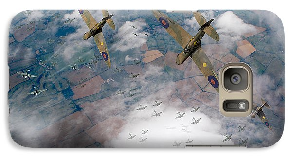 Raf Spitfires Swoop On Heinkels In Battle Of Britain Galaxy S7 Case by Gary Eason