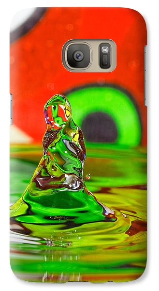 Galaxy Case featuring the photograph Splas by Peter Lakomy