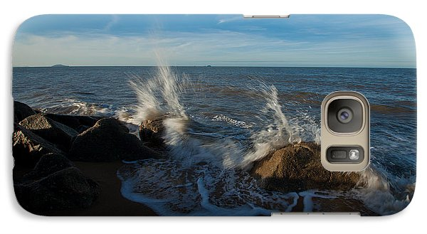 Galaxy Case featuring the photograph Splash On Rocks by Carole Hinding