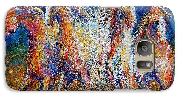 Galaxy Case featuring the painting Splashing Gallop by Jennifer Godshalk
