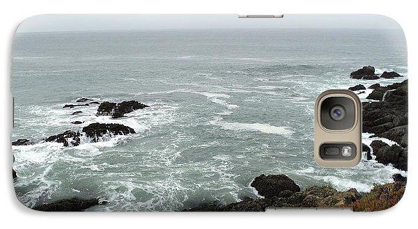 Galaxy Case featuring the photograph Splashing Ocean Waves by Carla Carson