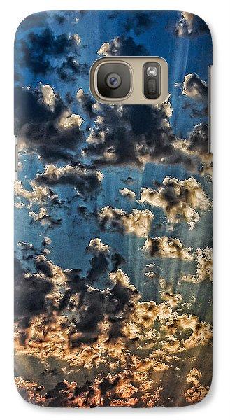Galaxy Case featuring the photograph Splendid Sunset by Don Schwartz