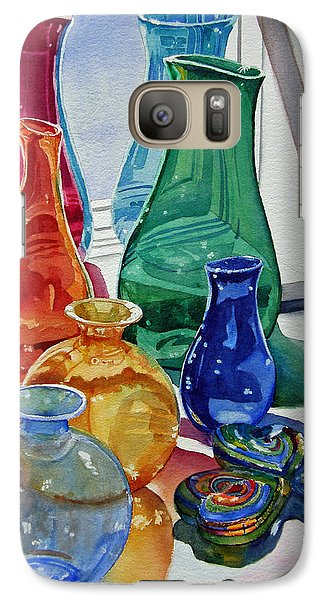 Galaxy Case featuring the painting Splendor In The Glass by Judy Mercer