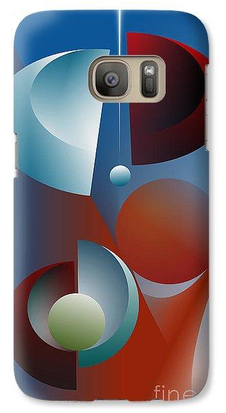 Galaxy Case featuring the digital art Split Cycle by Leo Symon