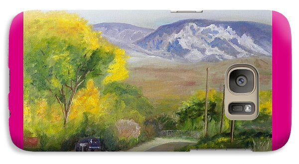 Galaxy Case featuring the painting Split Mountain On Golf Course Road by Sherril Porter
