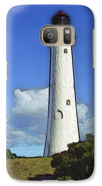 Galaxy Case featuring the painting Split Point Lighthouse by Dennis Lundell