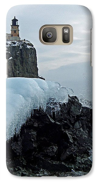 Galaxy Case featuring the photograph Split Rock Lighthouse Winter by James Peterson