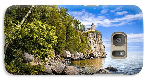 Galaxy Case featuring the photograph Split Rock Shoreline by Mark David Zahn