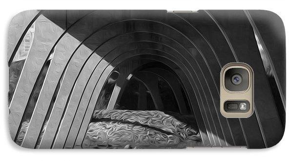Galaxy Case featuring the digital art Split Shade by Kelvin Booker
