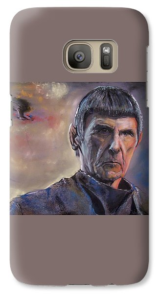 Galaxy Case featuring the mixed media Spock by Peter Suhocke