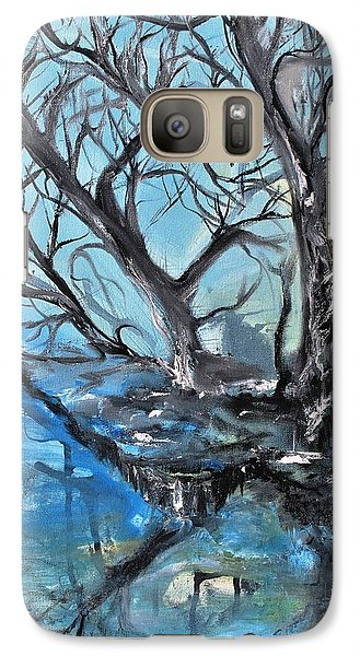 Galaxy Case featuring the painting Spooky Mood by Evelina Popilian