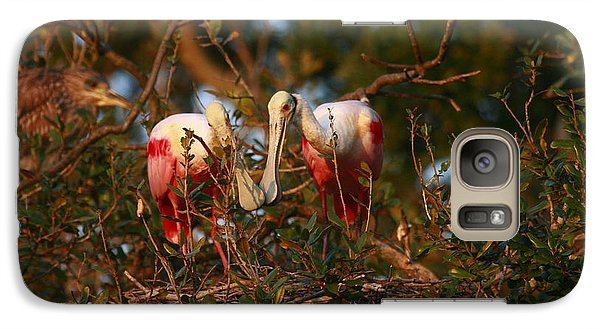 Galaxy Case featuring the photograph Spoonbill Love Nest by John F Tsumas