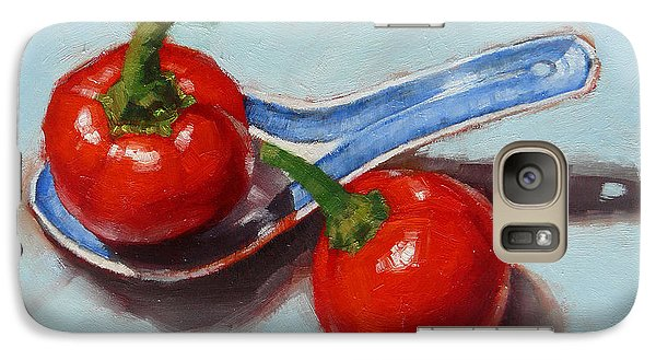 Galaxy Case featuring the painting Spoonful Of Chilli by Margaret Stockdale