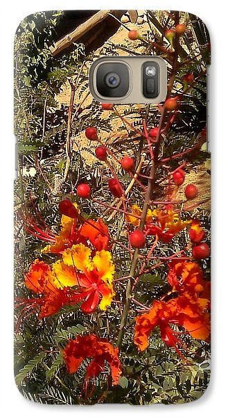 Galaxy Case featuring the photograph Spot Of Color by Fred Wilson