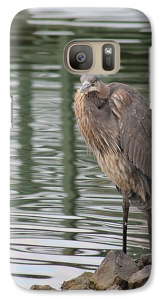 Galaxy Case featuring the photograph Spotted By A Great Blue Heron by Robert Banach