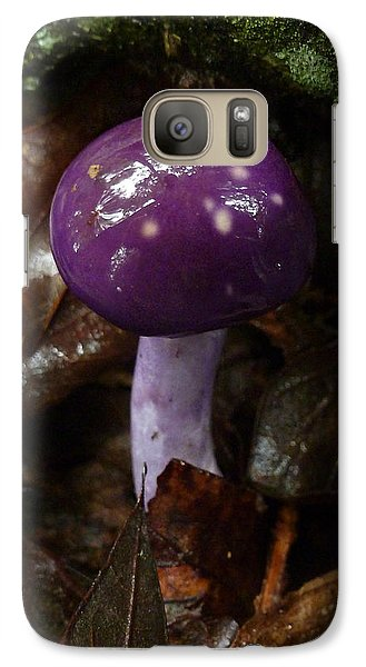 Galaxy Case featuring the photograph Spotted Cortinarius Mushroom by William Tanneberger