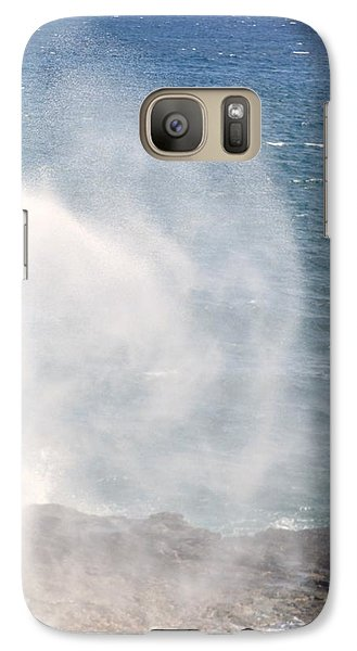 Galaxy Case featuring the photograph Spouting Horn II by Alohi Fujimoto