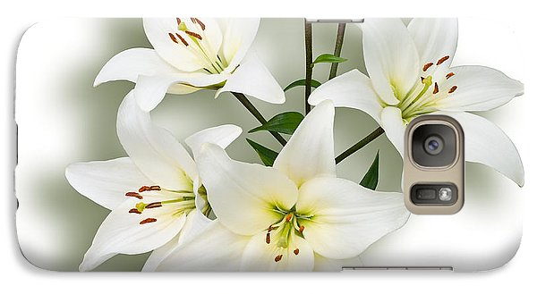 Galaxy Case featuring the photograph Spray Of White Lilies by Jane McIlroy