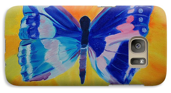 Galaxy Case featuring the painting Spreading My Wings by Meryl Goudey