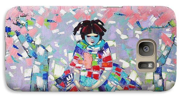 Galaxy Case featuring the painting Spring by Anastasija Kraineva