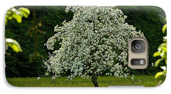 Spring - Blooming Apple Tree And Green Meadow Galaxy S7 Case