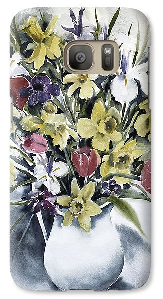 Galaxy Case featuring the painting Spring Bouquet by Joan Hartenstein
