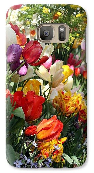 Galaxy Case featuring the photograph Spring Bulb Bonanza by Mary Lou Chmura