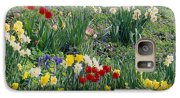Galaxy Case featuring the photograph Spring Bulb Garden by Alan L Graham