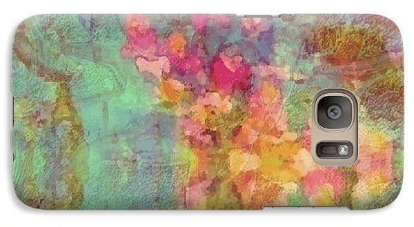 Galaxy Case featuring the painting Spring Dream by Holly Martinson