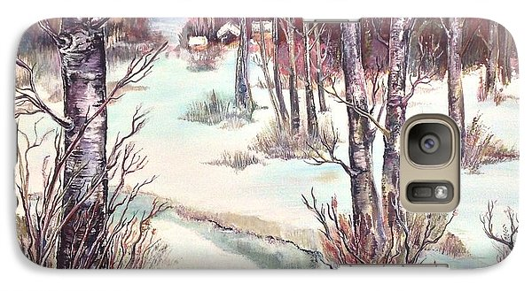 Galaxy Case featuring the painting Spring Dusk by Iya Carson