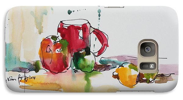Galaxy Case featuring the painting Spring Energy by Becky Kim