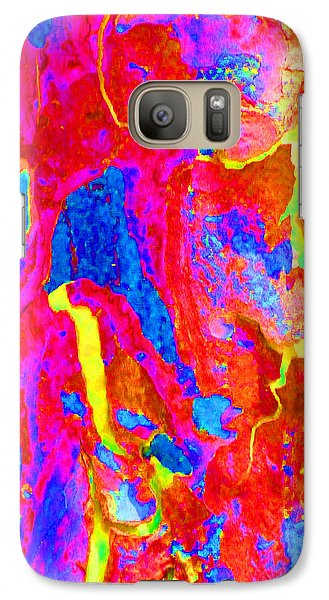 Galaxy Case featuring the photograph Spring Eucalypt Abstract 14 by Margaret Saheed