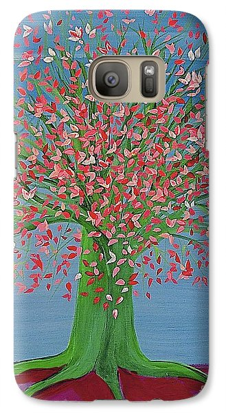 Galaxy Case featuring the painting Spring Fantasy Tree By Jrr by First Star Art