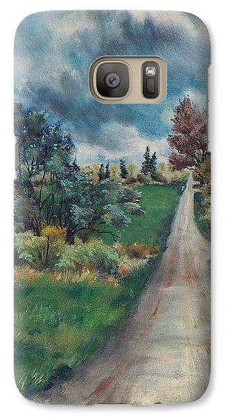 Galaxy Case featuring the painting Spring Farm by Joy Nichols
