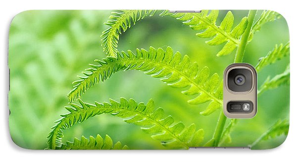 Galaxy Case featuring the photograph Spring Fern by Lars Lentz