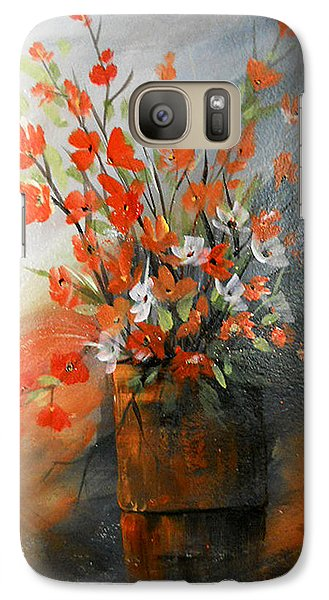 Galaxy Case featuring the painting Spring Flower Bouquet by Dorothy Maier