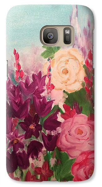 Galaxy Case featuring the painting Spring Flowers by Brindha Naveen