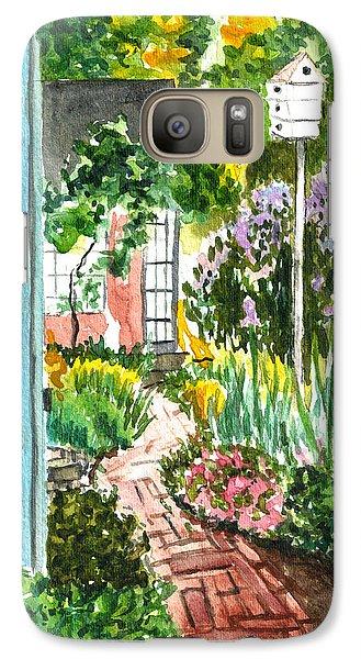 Galaxy Case featuring the painting Spring Garden by Clara Sue Beym