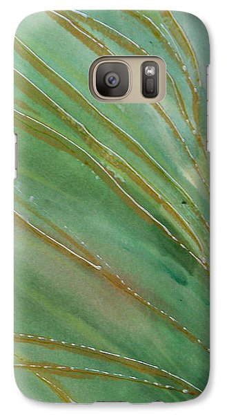 Galaxy Case featuring the painting Spring Grasses by Susan Crossman Buscho