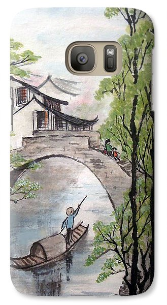 Galaxy Case featuring the photograph Spring In Ancient Watertown by Yufeng Wang