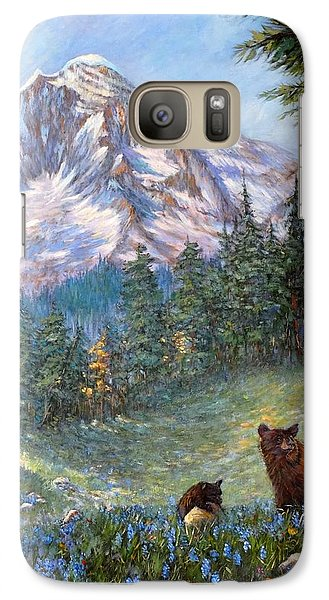 Galaxy Case featuring the painting Spring In The Cascades by Charles Munn