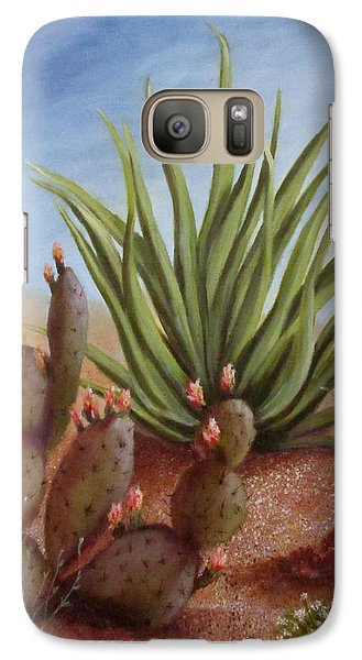 Galaxy Case featuring the painting Spring In The Desert by Roseann Gilmore