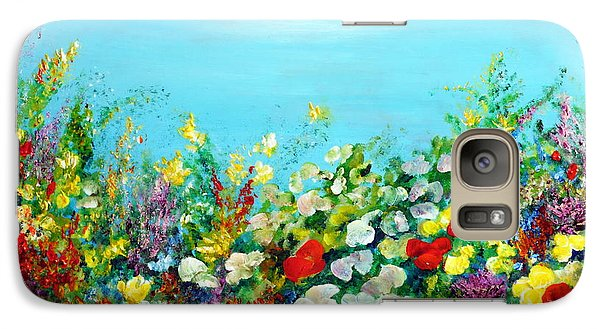 Galaxy Case featuring the painting Spring In The Garden by Teresa Wegrzyn