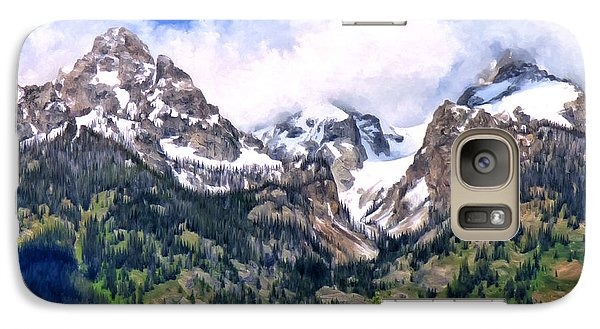 Galaxy Case featuring the painting Spring In The Grand Tetons by Michael Pickett