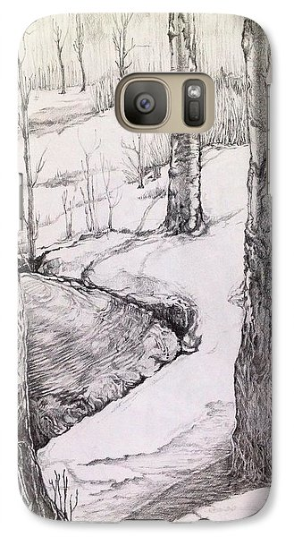 Galaxy Case featuring the drawing Spring by Iya Carson